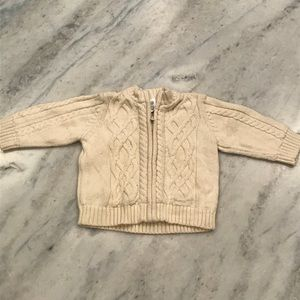 Baby gap 6-12 month Infant cream zip up sweater